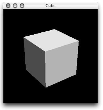 OpenGL рисует куб в окне, а мне надо, чтоб видимым был только куб. sersar.