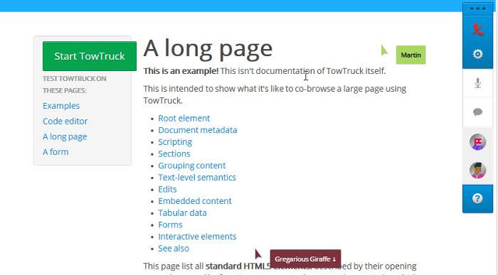 Инкубатор: Проект Mozilla TowTruck позволяет интегрировать средства для совместной работы на любой сайт