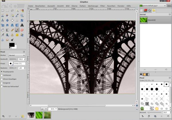 Gimp как сделать такуюграфию отражение