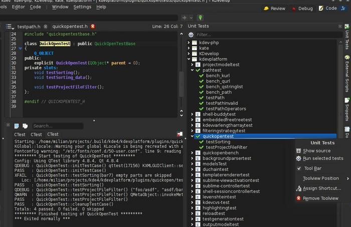 OpenNews: Релиз среды разработки приложений KDevelop 4 5 0
