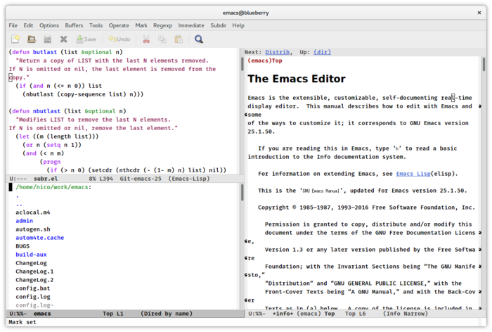 Доступен релиз текстового редактора GNU Emacs 25.1