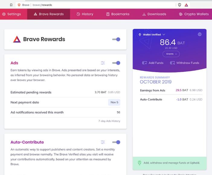 Выпуск браузера Brave 1.0, развиваемого при участии создателя JavaScript