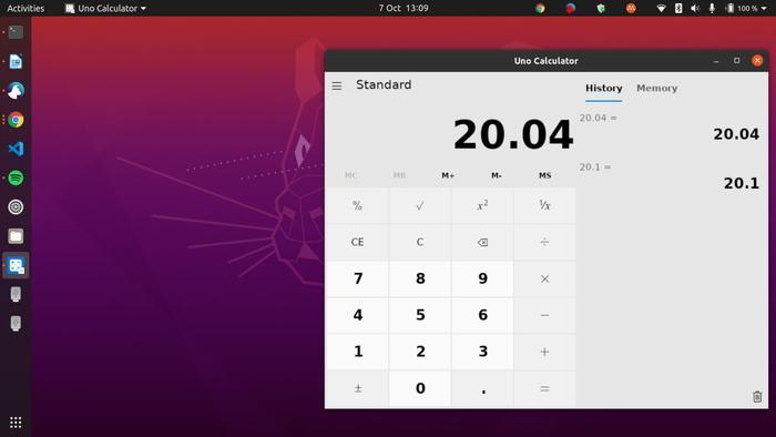 Windows Calculator портирован для Linux при помощи платформы Uno