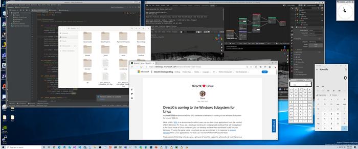 Microsoft начал тестирование поддержки запуска GUI-приложений Linux в Windows